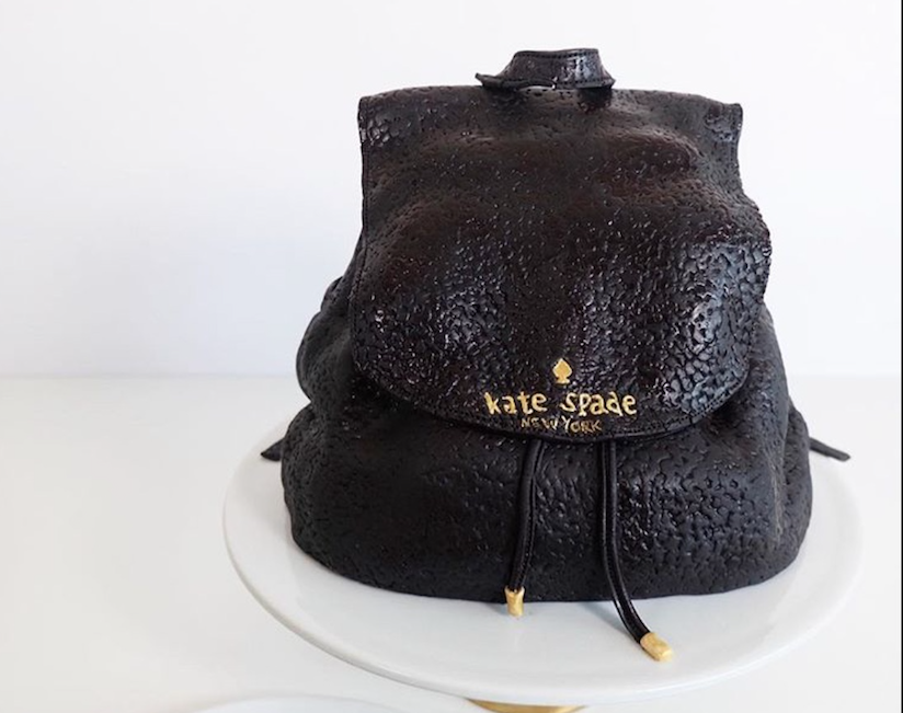 Kate Inspired fondant handbag cake