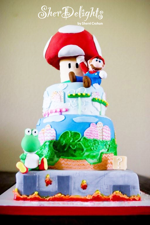 Mario Brothers Birthday Cake