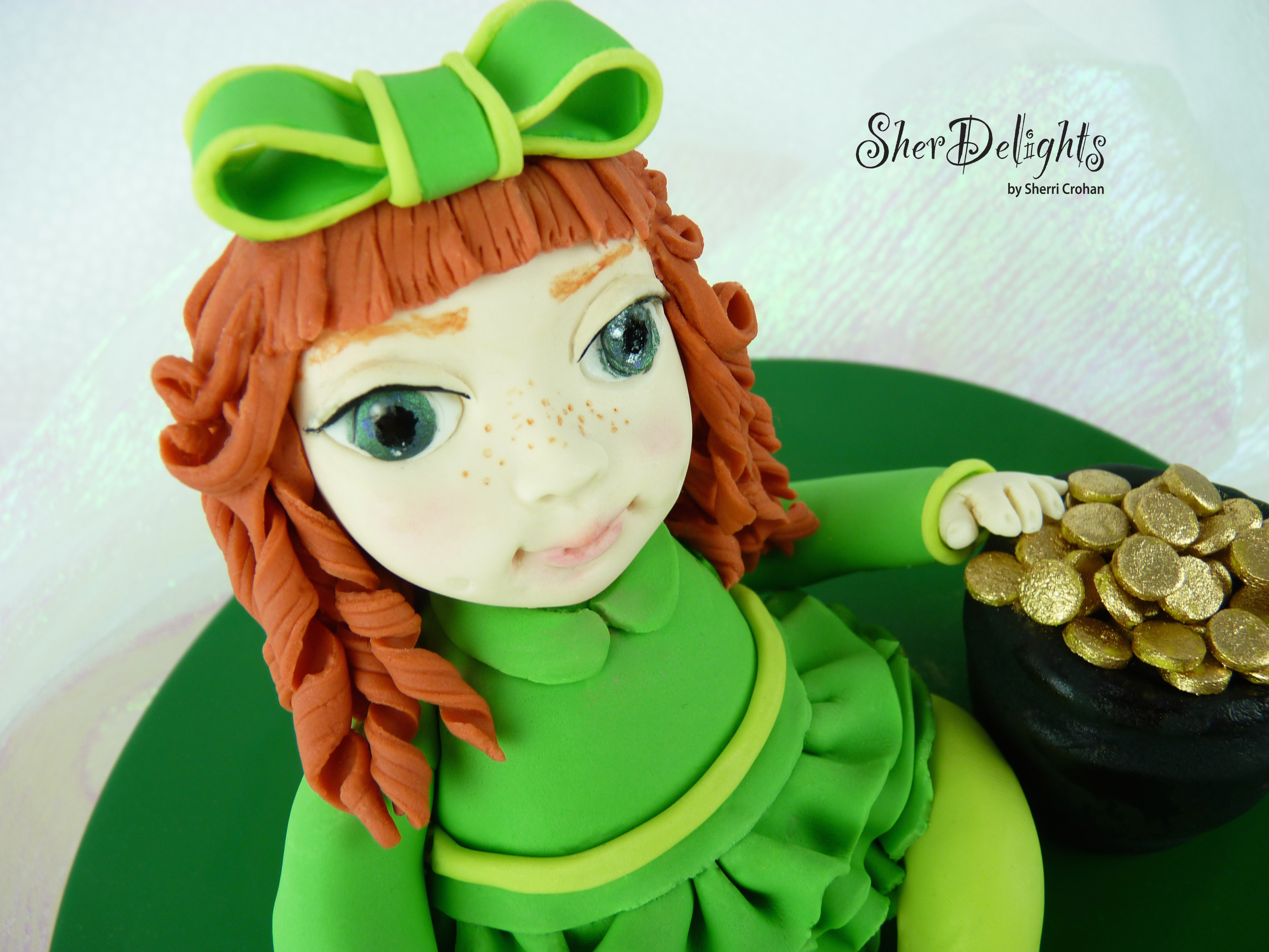 Irish girl figurine