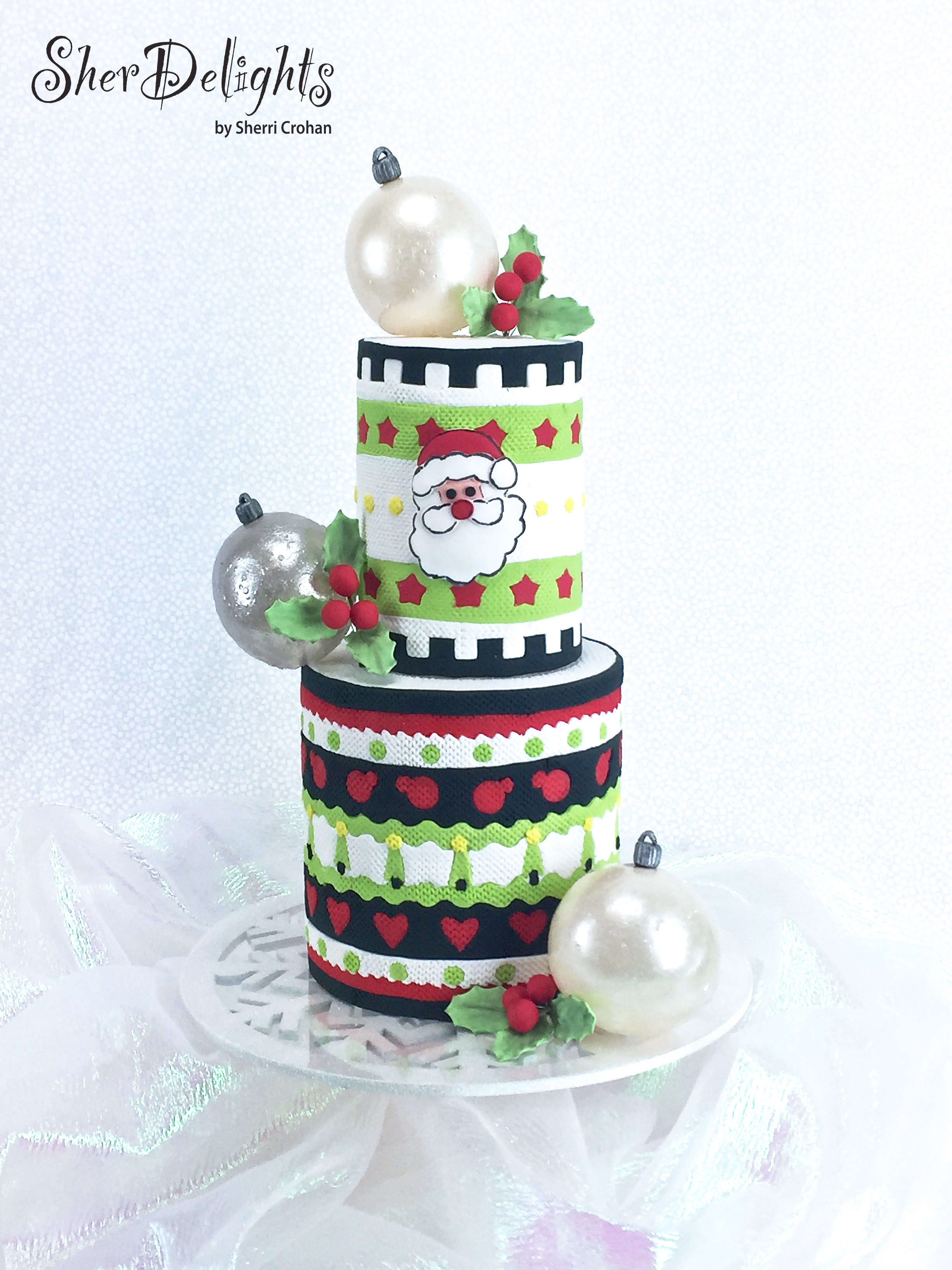 Christmas sweater pattern cake