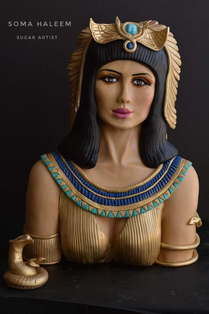 Cleopatra fondant bust