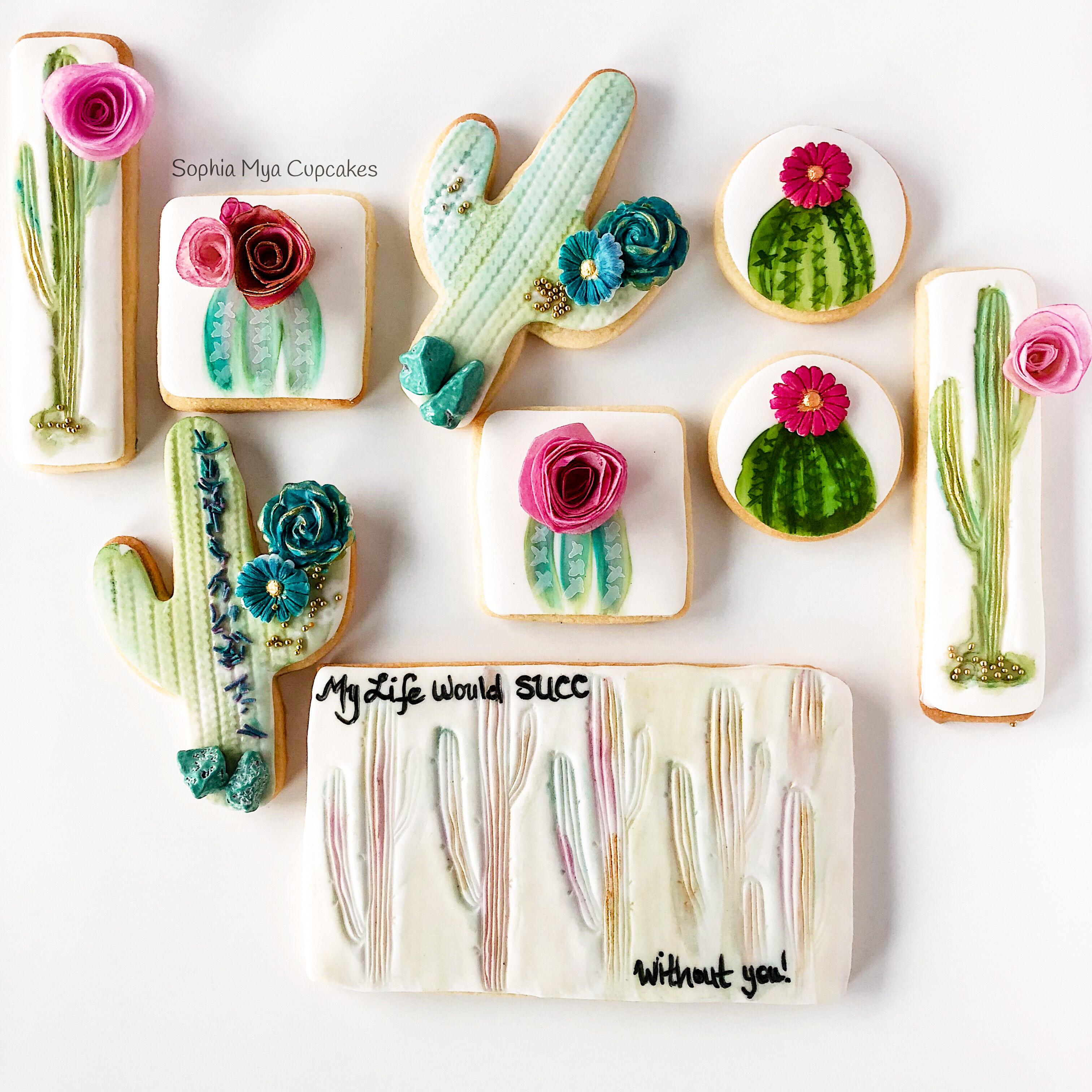 Fondant Cactus cookies