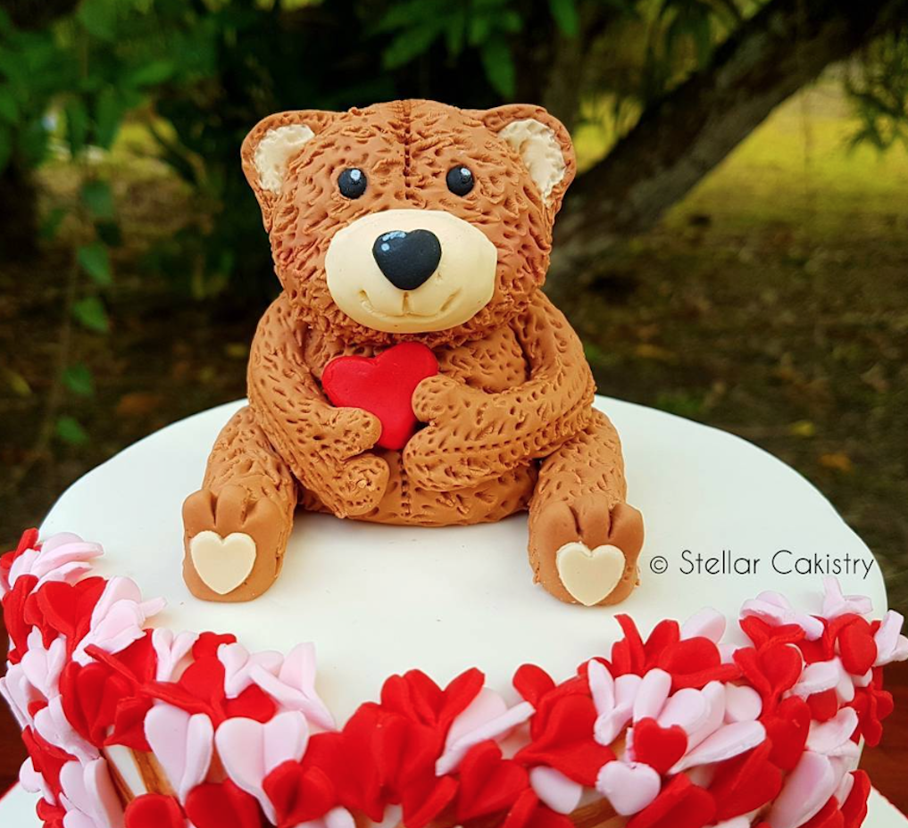 Valentine Teddy Bear cake topper