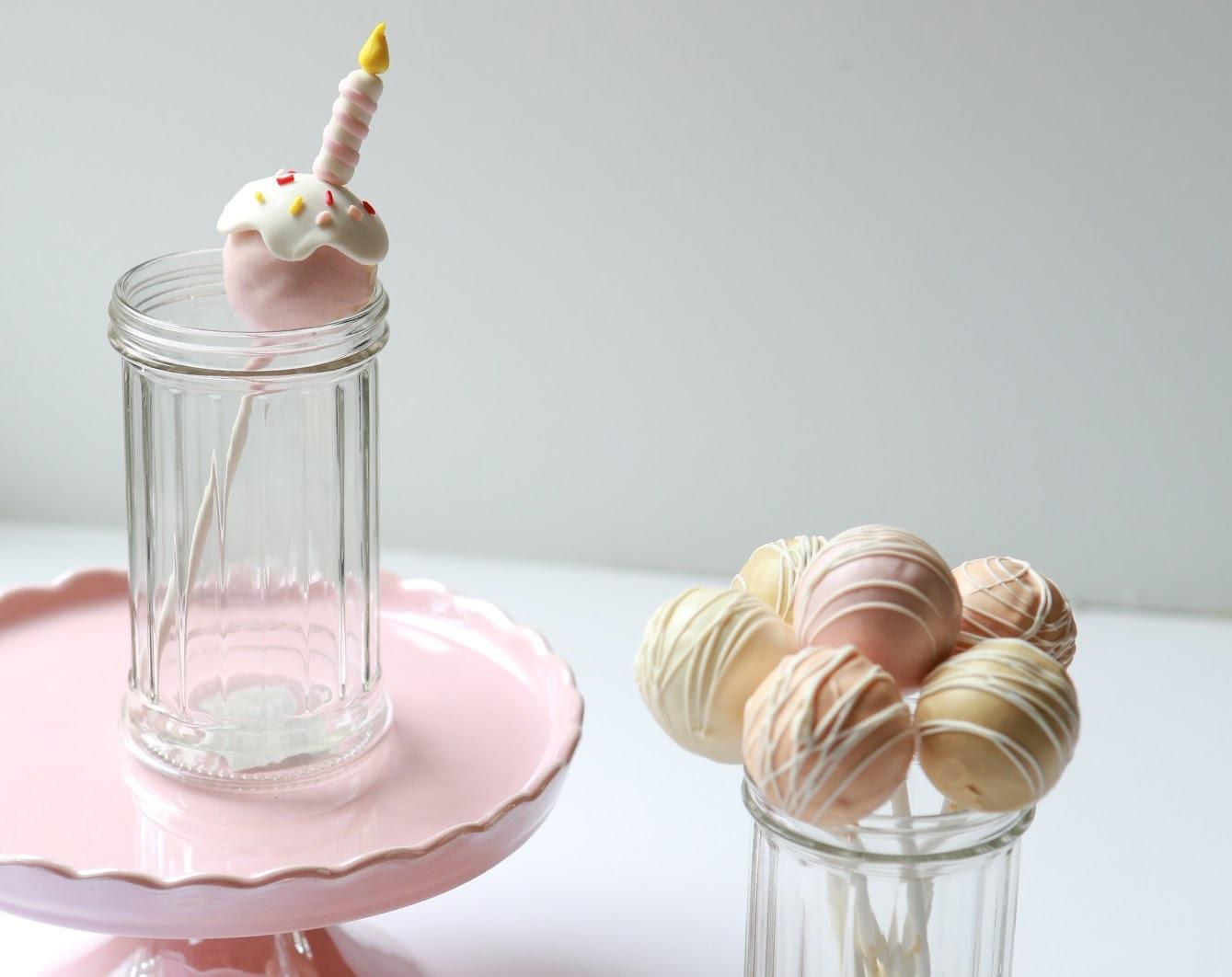 Pink Birthday Cake Pops