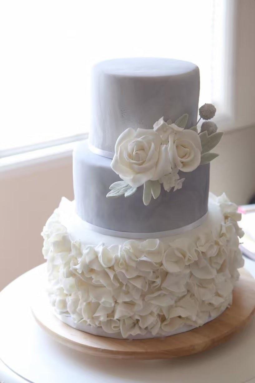 Gray & White Ruffle Wedding