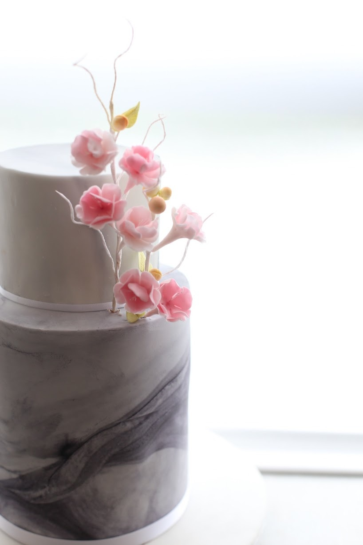 Gray Marbled Wedding