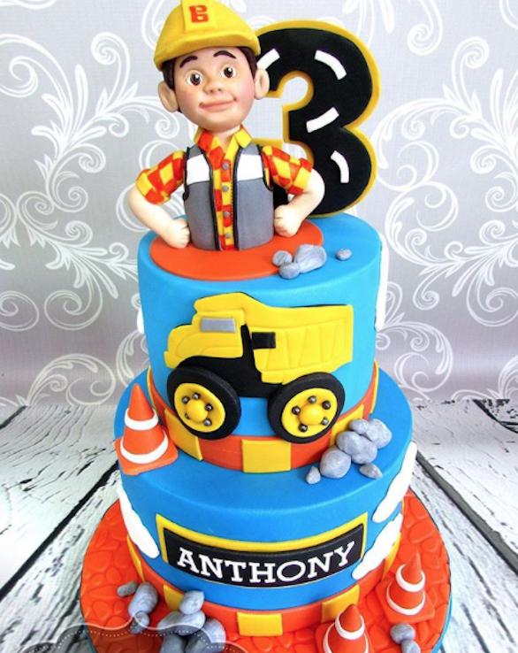 bob the builder birthday cake by Sucreendelire