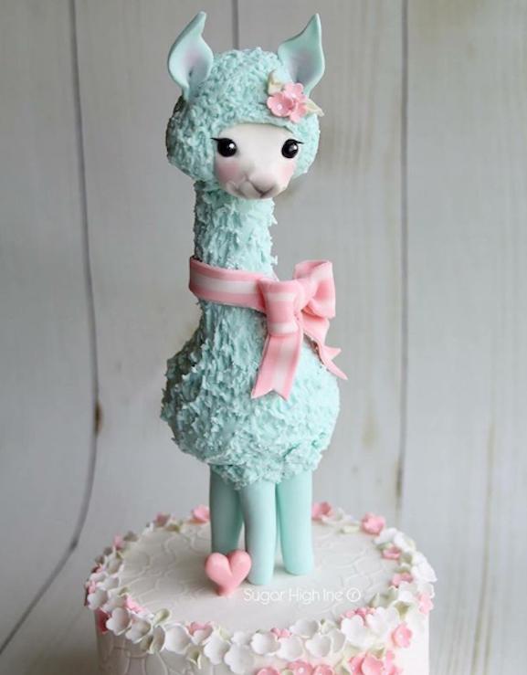 Fondant Llama cake