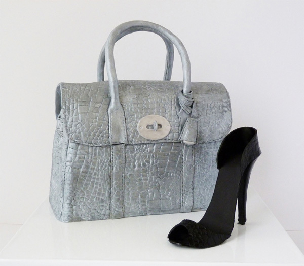 Silver Bag & High Heel