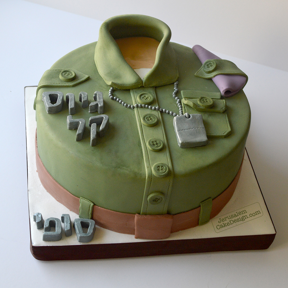Army themed birthday cake