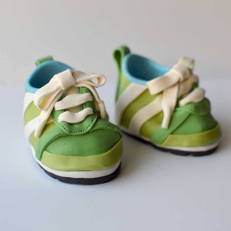 Green baby sugar shoes