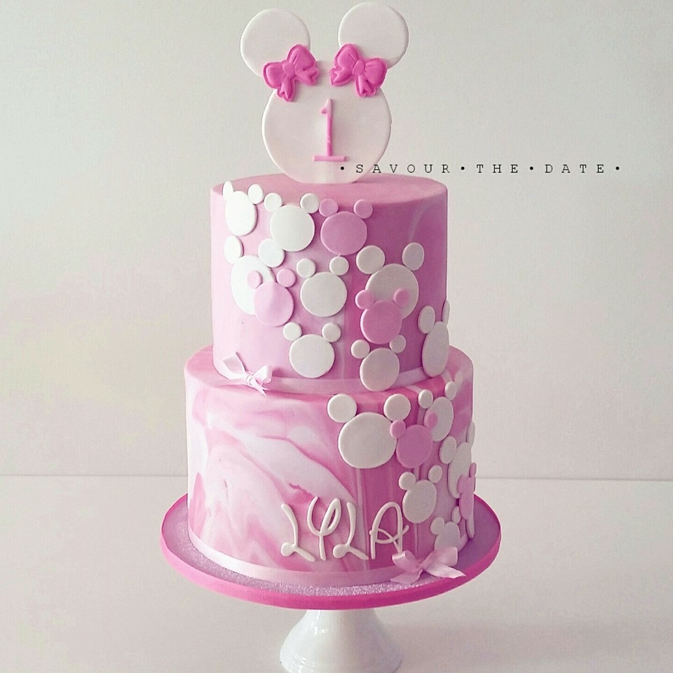 Pink Ombre Minnie Mouse birthday
