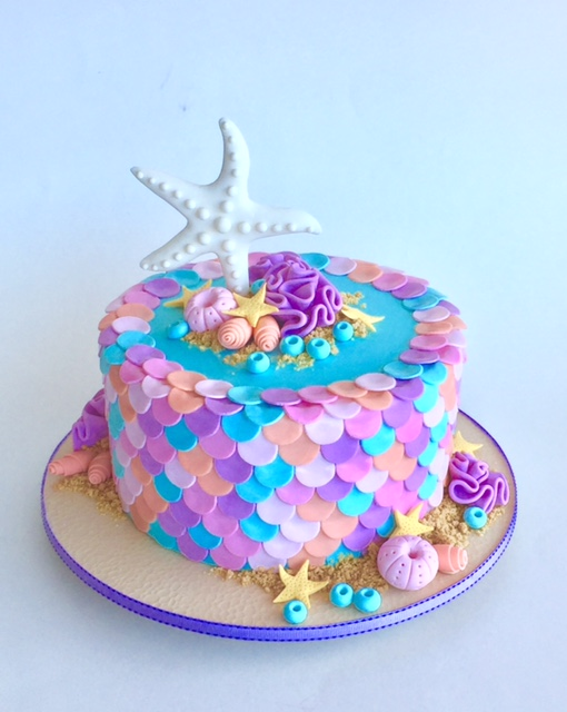 Under the sea starfish cake