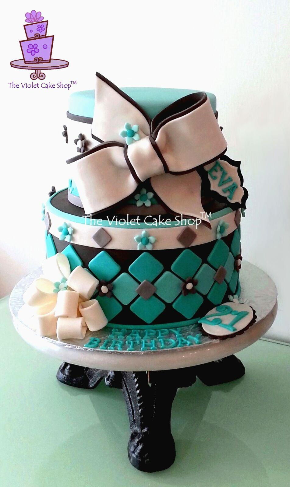 Turquoise white and black birthday