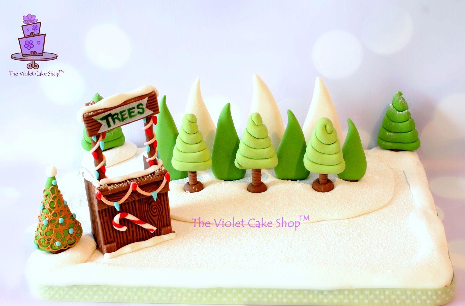 Fondant Christmas Trees