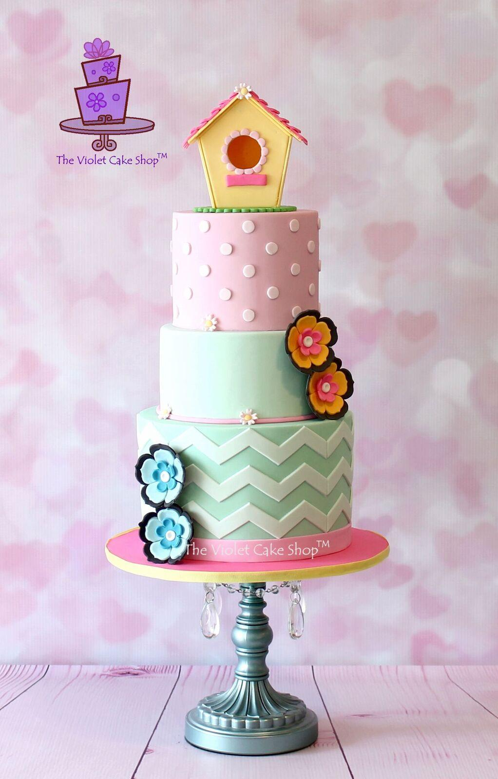 Spring Birdhouse Cake