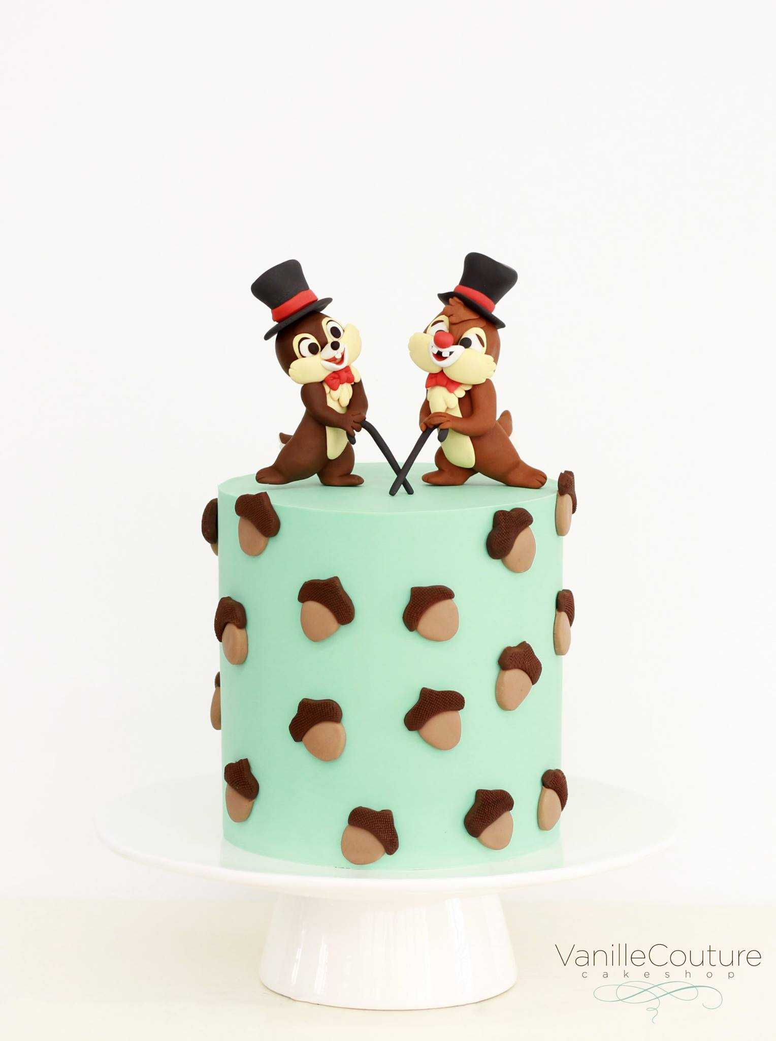 Chip & Dale Birthday Cake