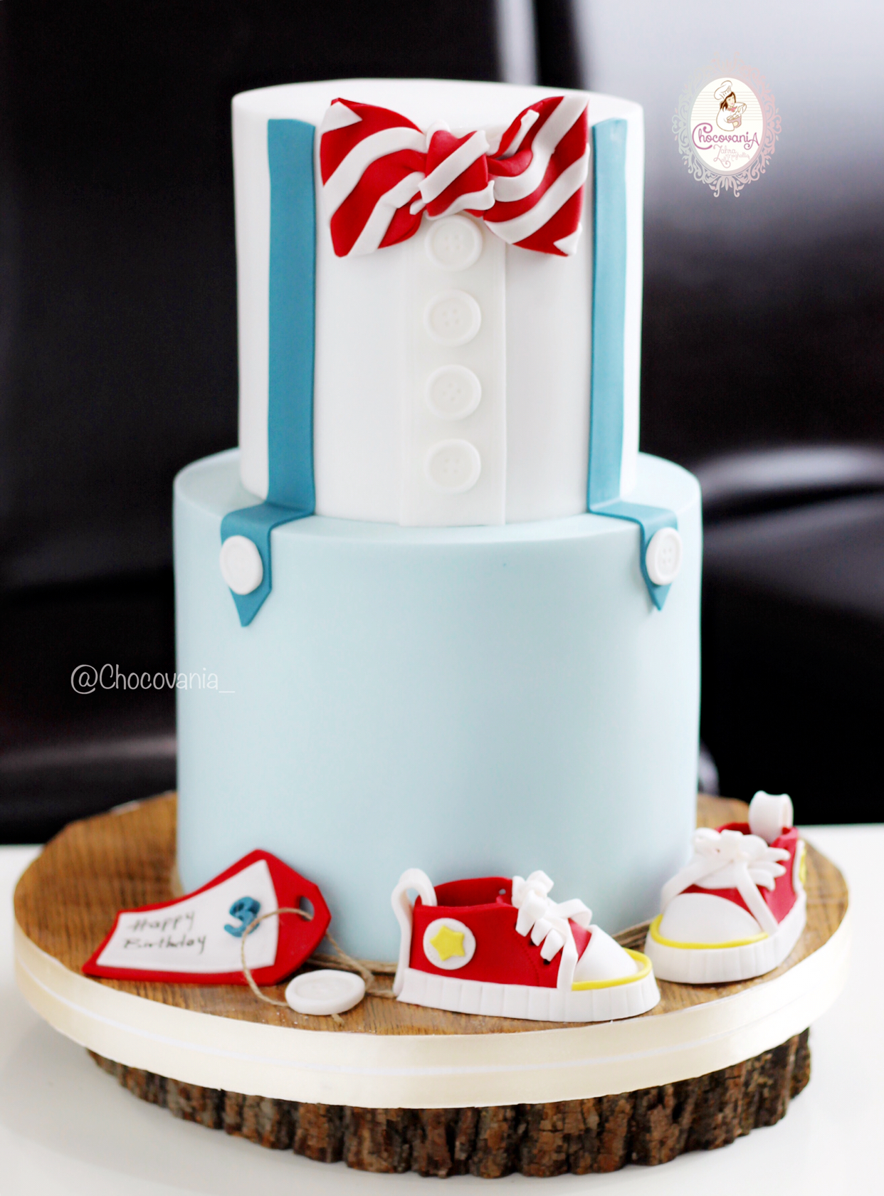Bow tie little man cake