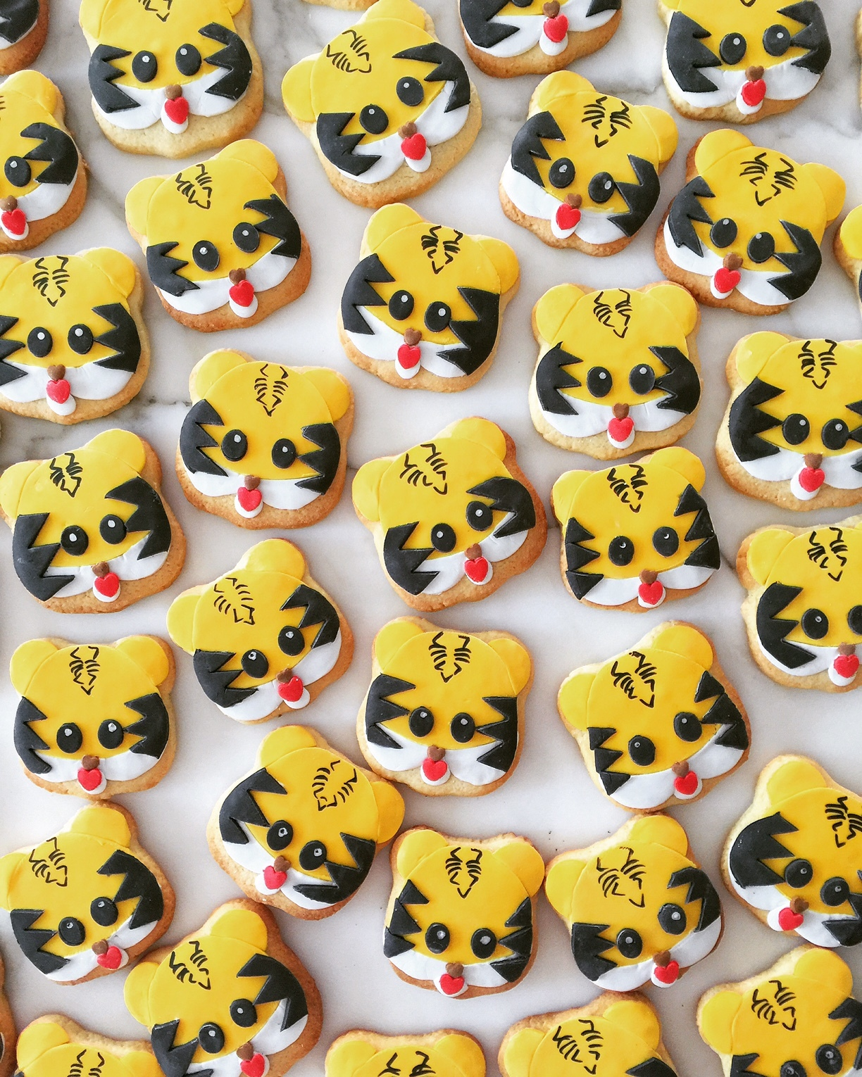Fondant Kitty Face Cookies