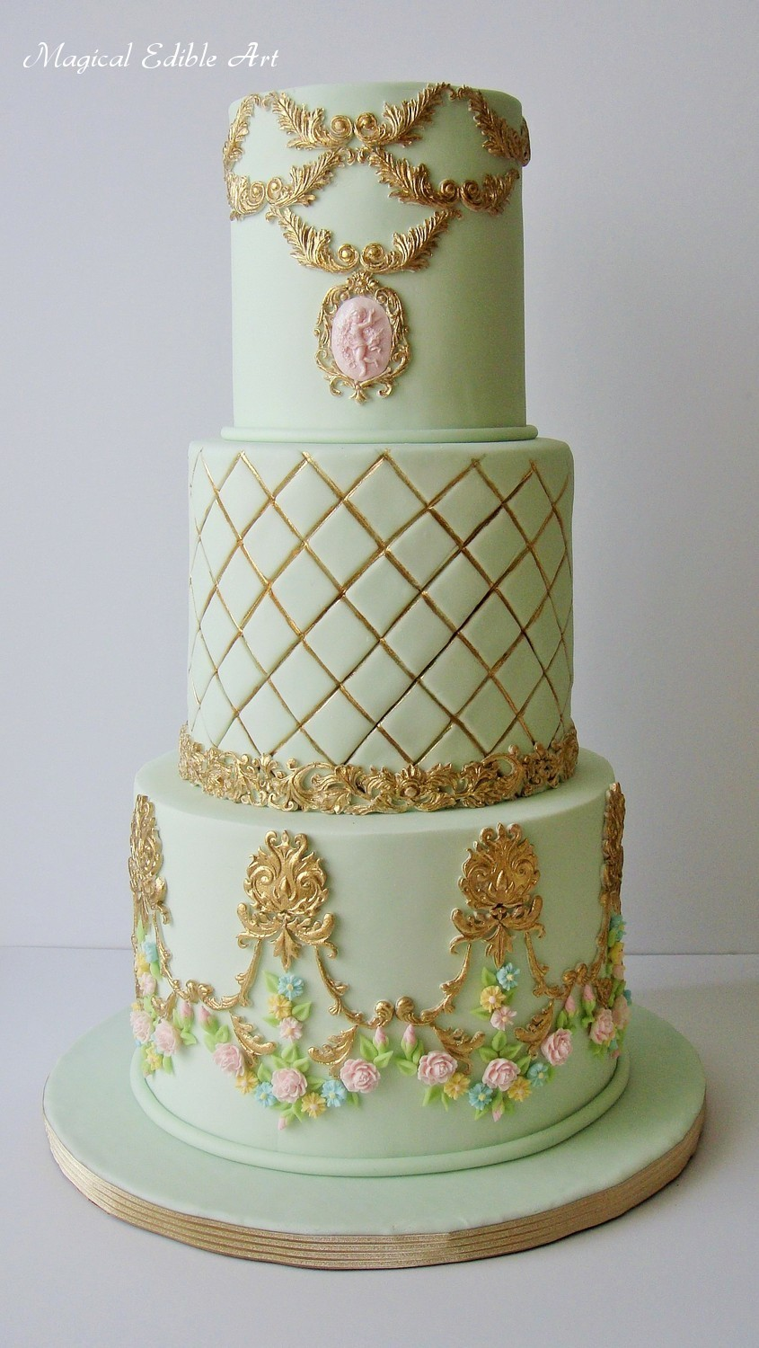 pastel Green & Gold Wedding