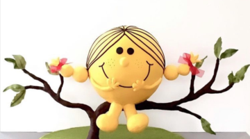 Little miss sunshine fondant cake