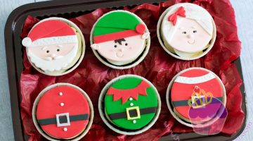Santa and friends cupcakes