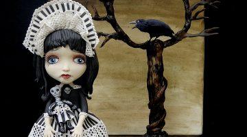 Halloween fondant witch
