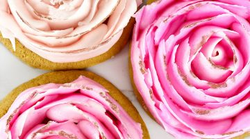 Buttercream Rose Petal Cookies