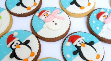 Fondant Winter Penguin Cookies