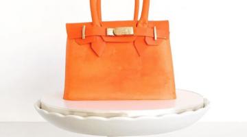 Orange handbag cake