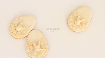 Ivory textured east bunny cookies