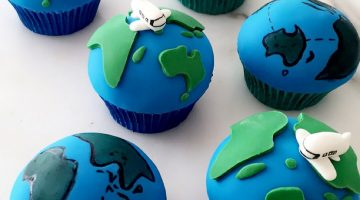 Around the world cupcake toppers