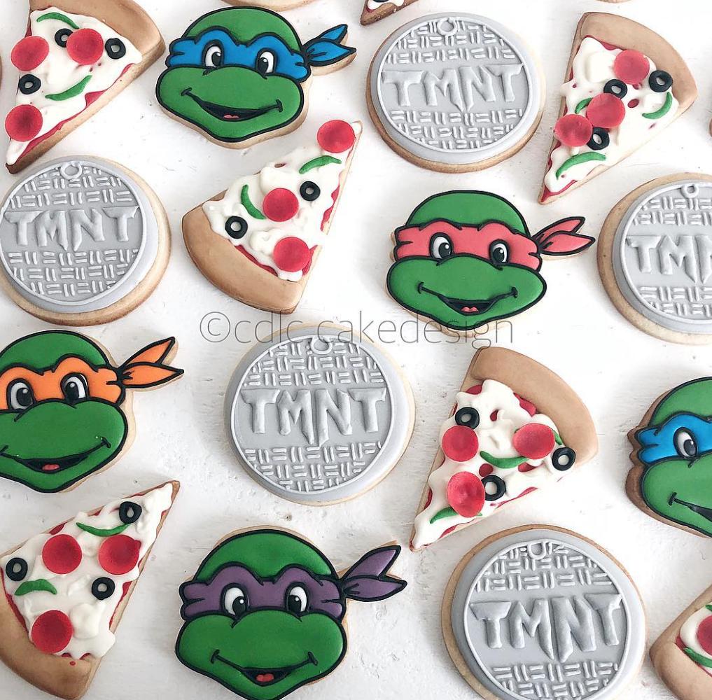 TMNT fondant cupcakes