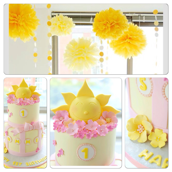 Sunshine themed first birthday