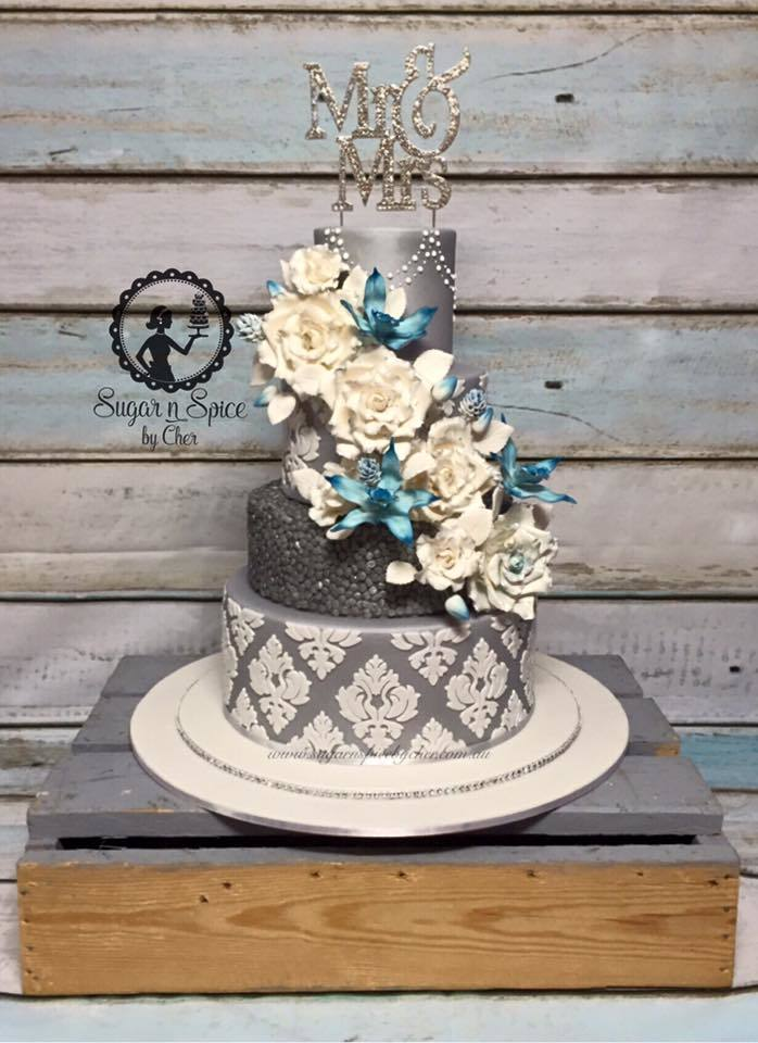 Gray & White Wedding