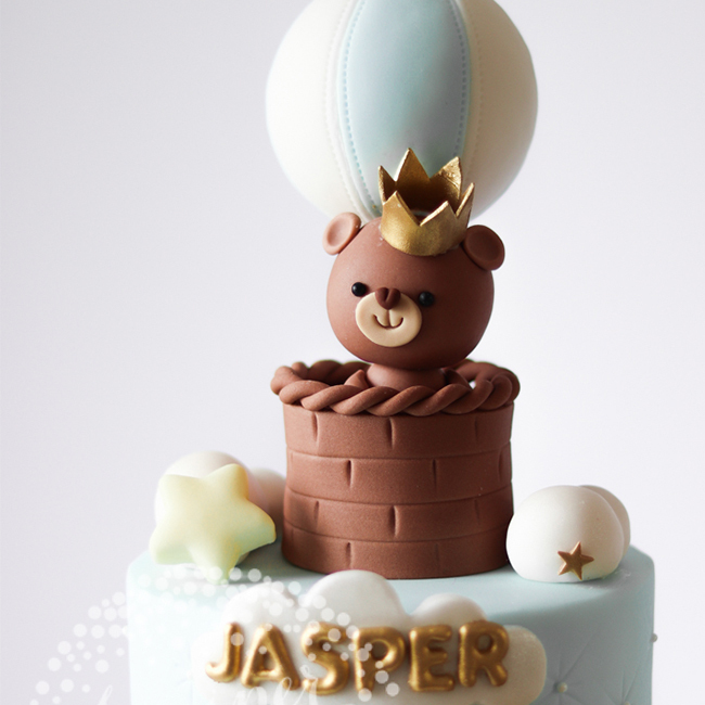 Cp 0019 Teddy Bear Christening Cake Juniper Cakery 2