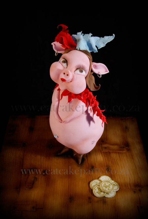 Sculpted Lady Pig