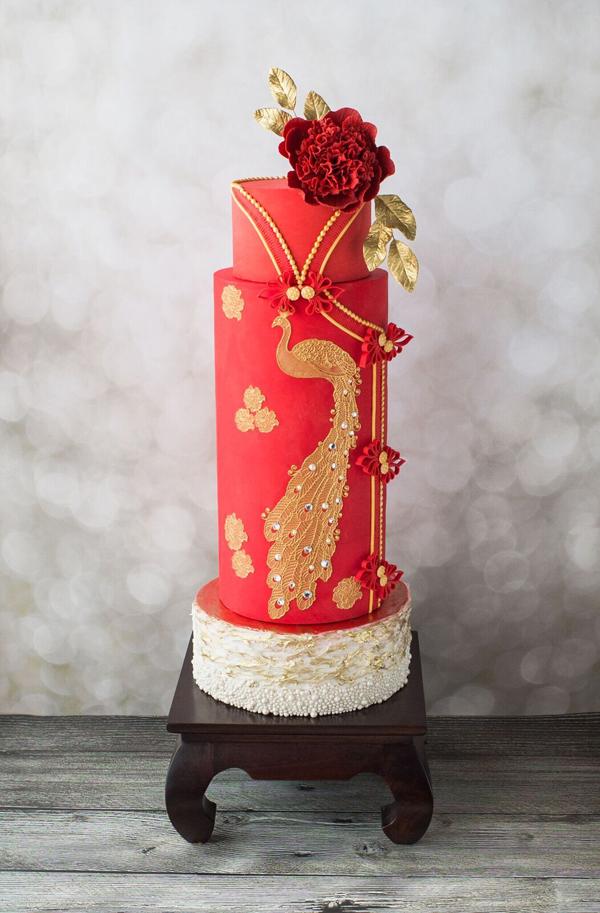 Chinese new year wedding cake