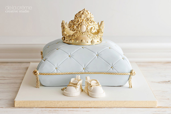 Royal Baby Shower fondant pillow cake