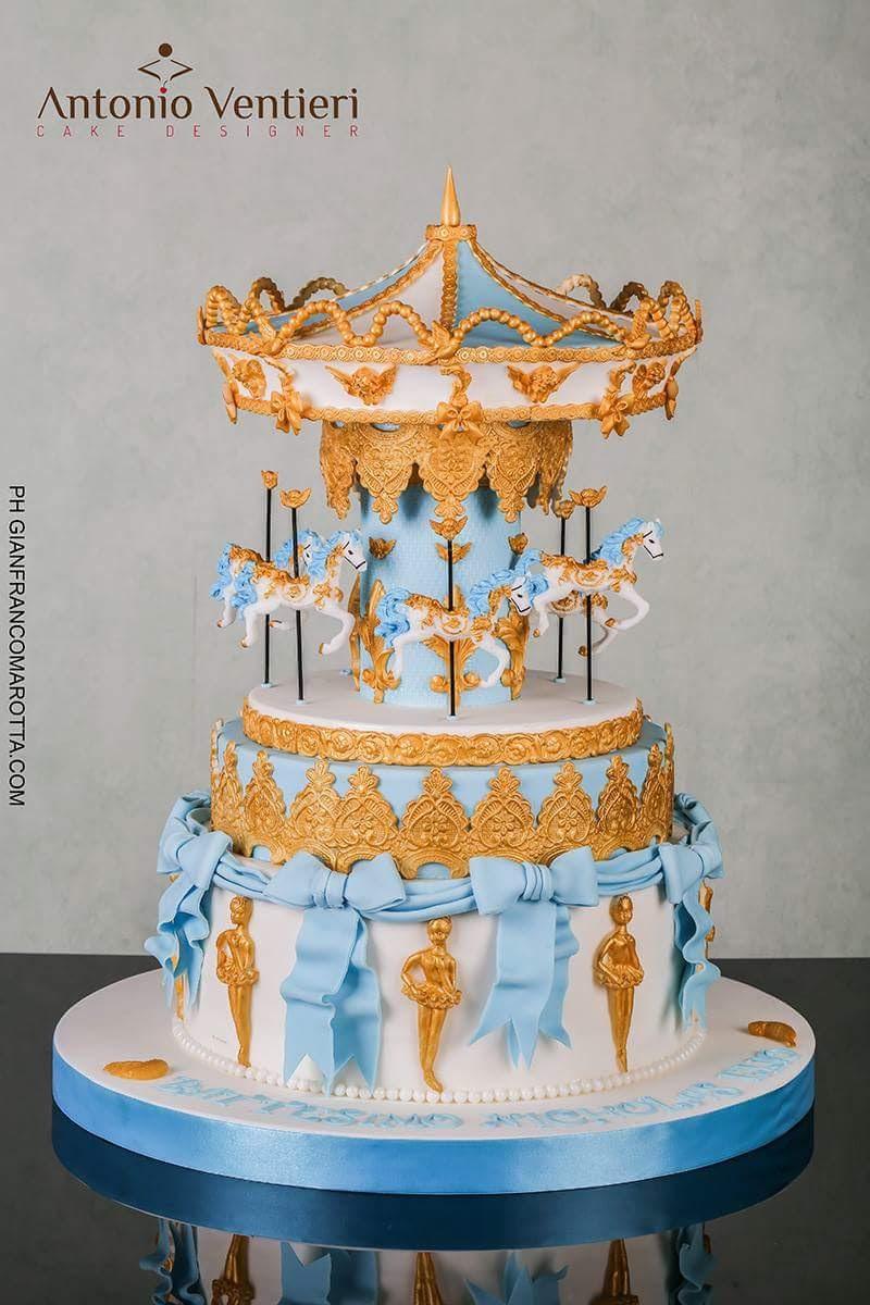 Baby horse carousel cake