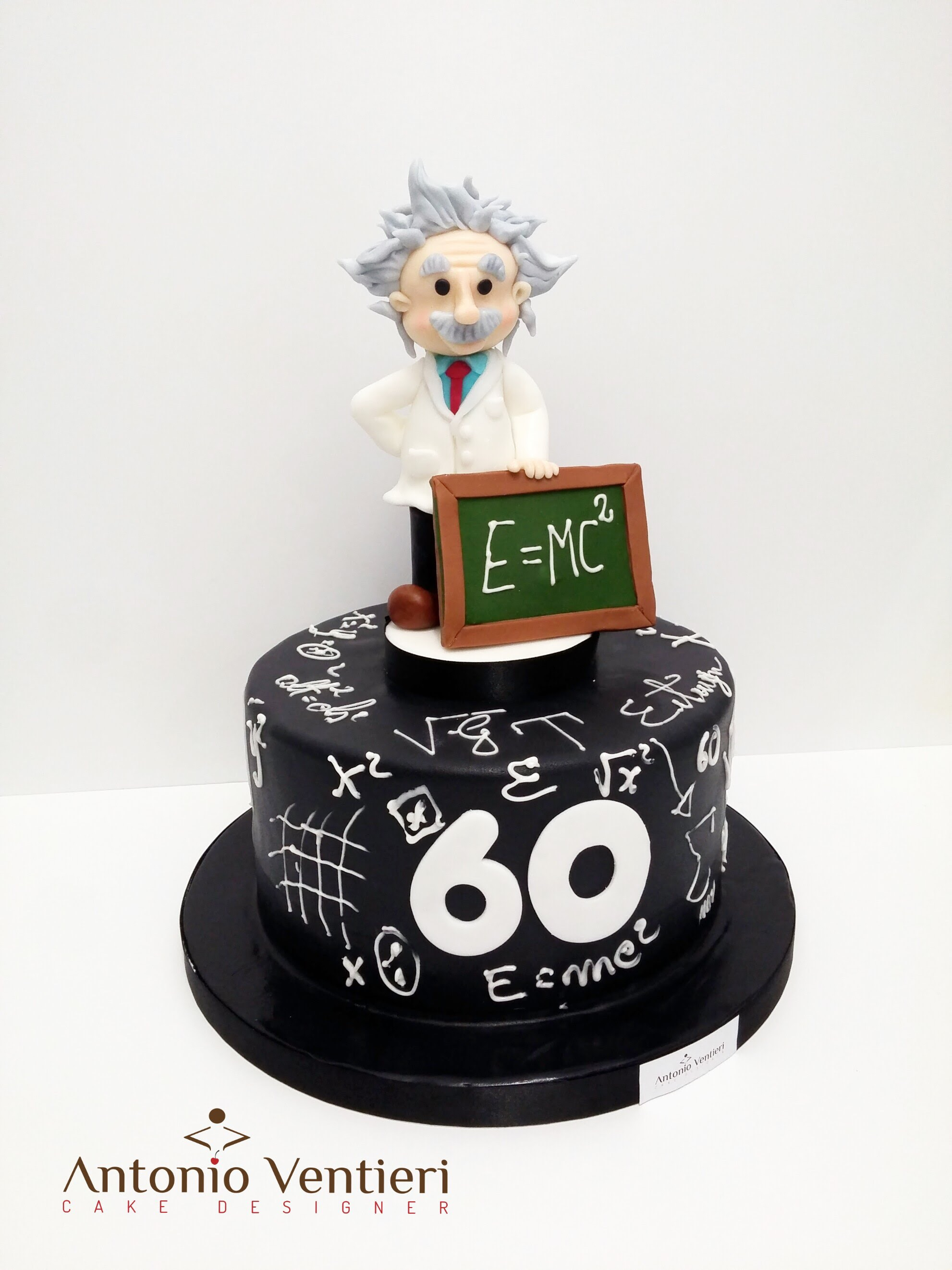 Mini Chalkboard Einstein themed birthday cake