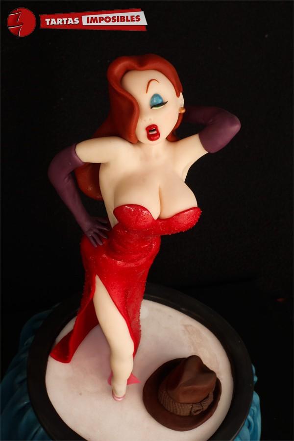 Jessica Rabbit fondant figurine