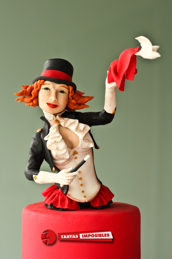 Sculpted Clown fondant figurine