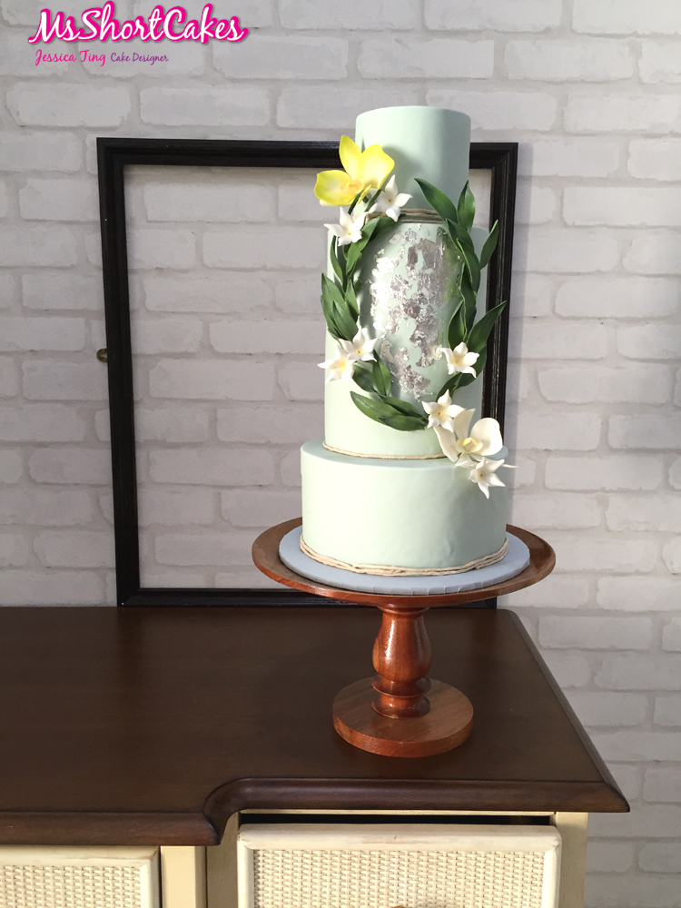 Eucalyptus wedding cake