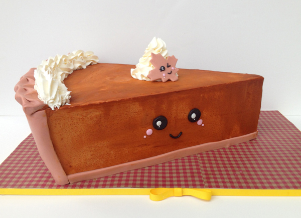 Sculpted Pumpkin Pie Slice