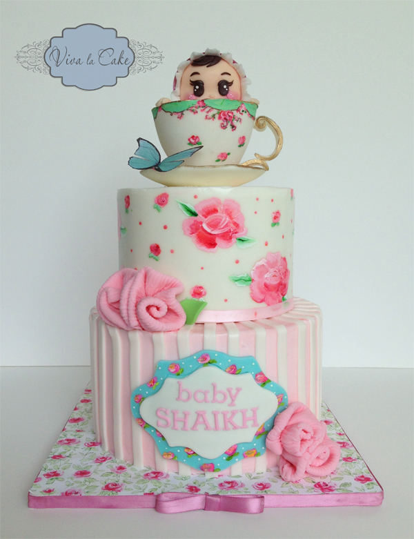 Tea Cup Baby Cake