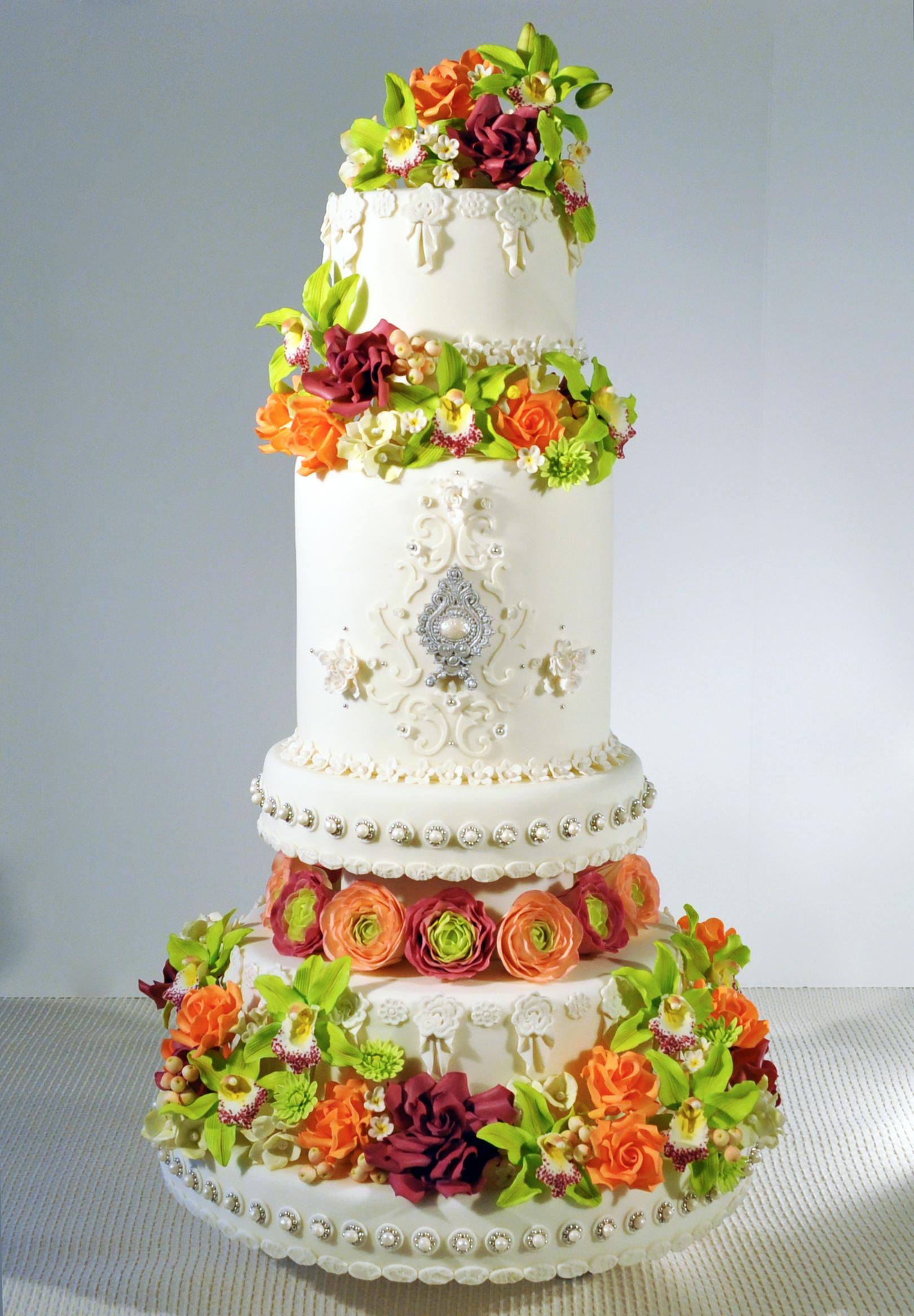 Tall Sugar Flower Wedding