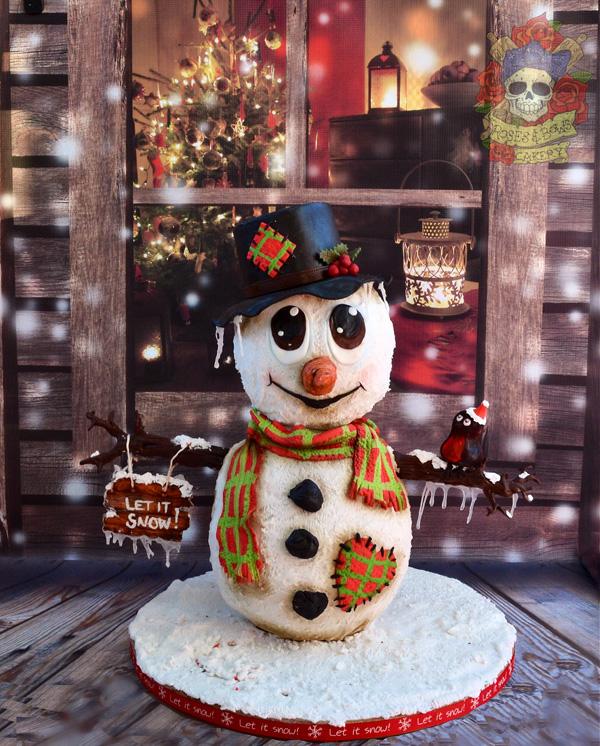 Sculpted Snowman