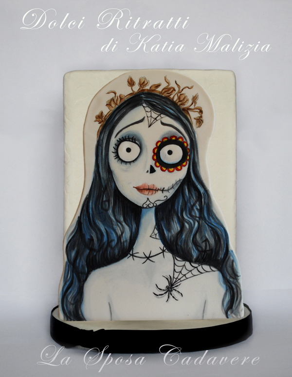Hand painted Corpse Bride
