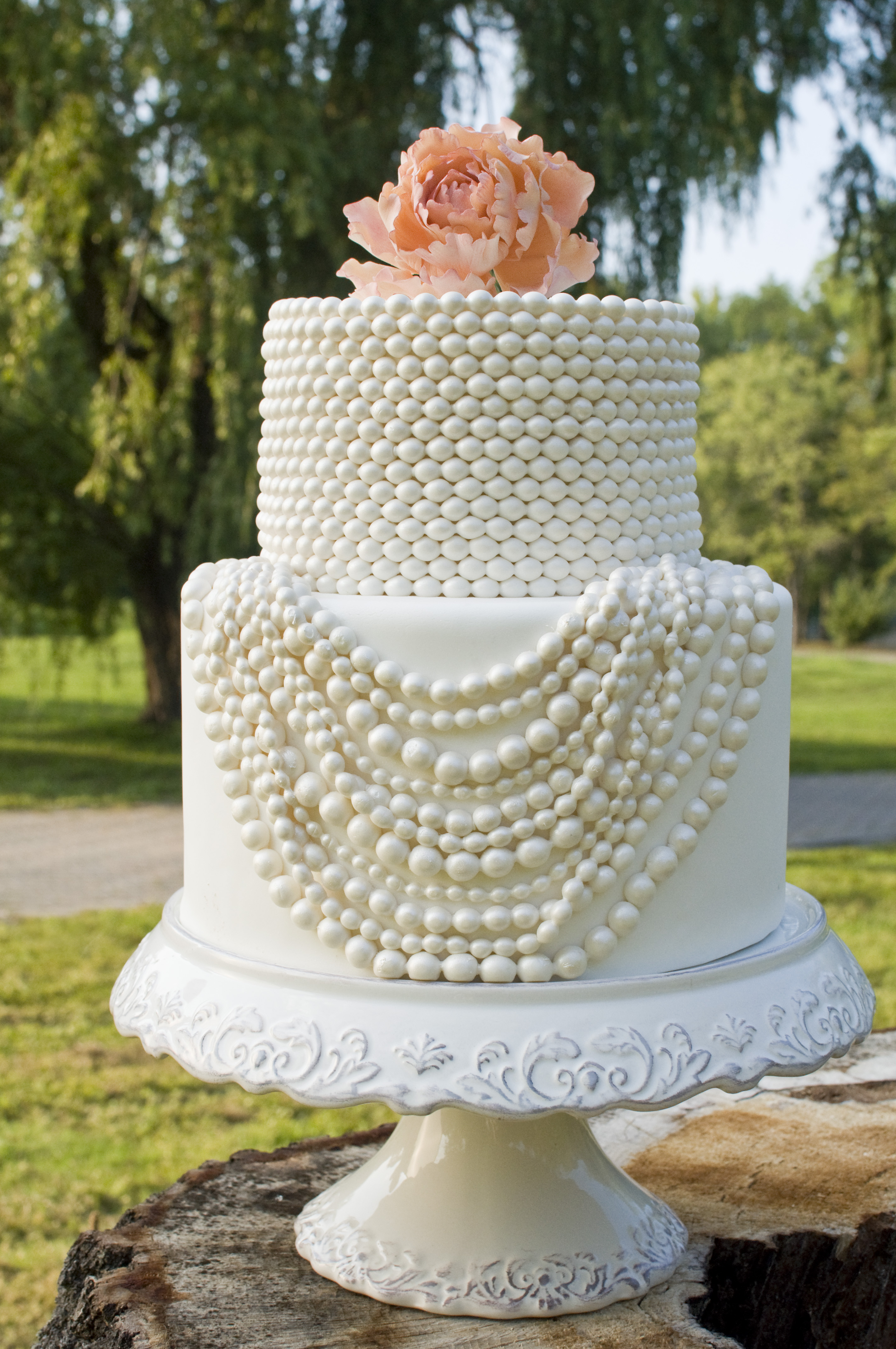 Draping Pearls Wedding